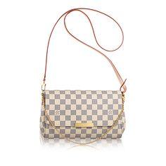 Favorite MM - Damier Azur Canvas - Handbags   LOUIS VUITTON