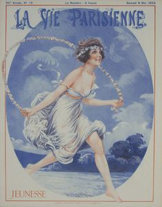 La Vie Parisienne - Jeunesse - May 1926 Original Magazine Cover Print @Rue Marcellin #UpscaleYourWalls with ruemarcellin.com