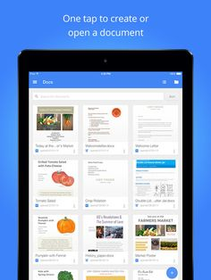 Google Docs - Create, edit and collaborate with others on documents from your iPod, iPhone or iPad with the free Google Docs app.