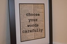 Dictionary Print by ChristinaMarieCrafts on Etsy https://www.etsy.com/listing/254008662/dictionary-print