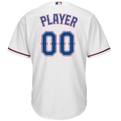 Majestic Athletic Texas Rangers Mens Cool Base Generic Player Home Jersey