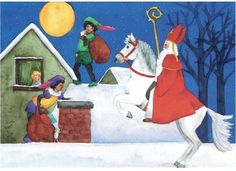 Postkaart : Sinterklaas St Nicholas Day, Close Image, Disney Characters, Fictional Characters, Saints, Disney Princess, Cards, Baby, Painting