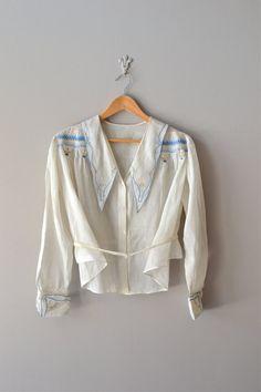 vintage 1920s Dalloway embroidered shirtwaist