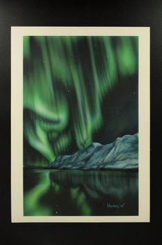 "Northern lights series "" print of the original painting. Signed by the author - limited edition available! Northern Lights, Nature, Painting, Etsy, Vintage, Naturaleza, Painting Art, Paintings, Nordic Lights"