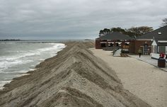 10) Protective berms line Compo Beach, as the first signs of Hurricane Sandy approach on October 28, 2012, in Westport, Connecticut. (Spencer Platt/Getty Images)