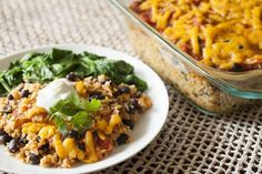 This Cheesy Quinoa and Black Bean Casserole dish will satisfy the whole household!