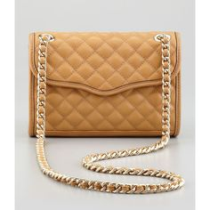 Quilted Affair Mini Shoulder Bag, Camel - Rebecca Minkoff