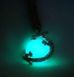 Glow in the Dark Dragon Pendant - Dragon Ball - Glowing Dragon - Materia