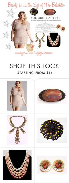 """""""Beauty IS You"""" by brightgemsu ❤ liked on Polyvore featuring Goldette and plus size dresses"""