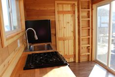 Our beautiful California Cabin tiny house features an efficient and minimal layout, without skimping on great features and gorgeous woodworking. Black Sink, Smart Home, Rustic Style, Tiny House, Minimalism, Layout, California, Cabin, Models