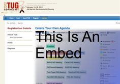 Embed it like Beckham! Seriously easy embeds for conference and festival organizers