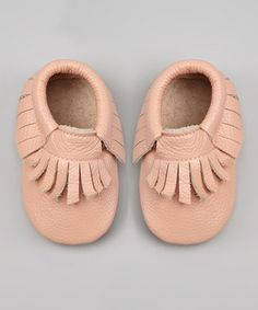 Pink Leather Moccasin Bootie - so adorable!