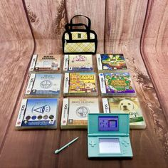 Nintendo Ds lite Bundle 9 Games great Console Great Bag Case No Marks On Screens 9 Game, Nintendo Ds Lite, Screens, Consoles, Computers, Childhood, Bag, Canvases, Infancy