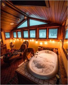 Bath tub dream Bath tub dream The post Bath tub dream appeared first on Evelyn Simoneau. Dream Bathrooms, Dream Rooms, Bathtub Dream, Cozy Cabin, Cozy House, Winter Cabin, Winter House, Winter Snow, Cabin Homes