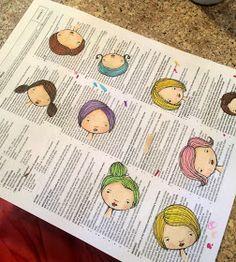 T. Matthews Fine Art: Art Journal Page 11/05/14 - 5 Girls