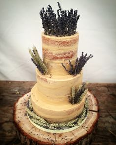 On Saturday I created my 1st gluten free rustic wedding cake  3 tiers of luscious lemon cake, layered with lemon curd and a lemon juice buttercream. Dressed with a semi naked buttercream and finished with fabulous corn and lavender.   I ❤️ weddings and this was such a joy to do  #Rustic #WeddingCakes #GlutenFree #Suffolk #Essex