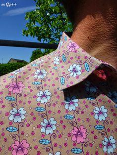 """Chemise à """"Fleurs"""" (patron maison) par m Gg++"""