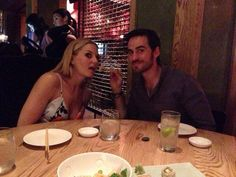 "via Adam Horowitz @AdamHorowitzLA   ""Dinner with Emma & Hook the night before comic con.  #OnceUponATime #Season4!""                      ·                             14m                                     ..."