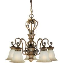 View the Forte Lighting 2493-05 25Wx22.5H 5 Light Chandelier at LightingDirect.com.