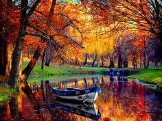 estanque en otoño