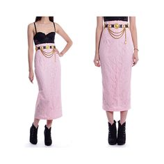 Vintage 70s 80s Skirt  High Waist Ankle Long Wiggle by fabledfancy, $36.00