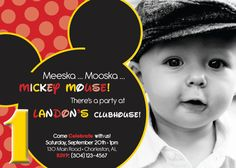 MICKEY mouse inspired  BIRTHDAY invitation  any age  by uniquewv, $10.50