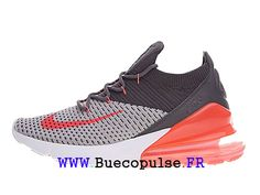 Nike Air Max 270 Flyknit Coussin d´air Chaussures Homme Blanc noir rouge  AO1023- 53bf95500