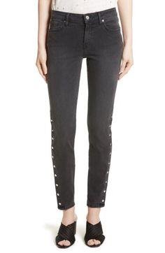 IRO IRO Biba Slim Straight Leg Ankle Jeans available at #Nordstrom