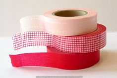 Pretty+Basic+Colors+Washi+Tape+RED+-+Dot+Grid+Solid $8.25