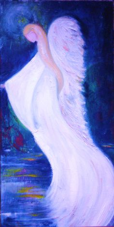 'Water Angel' Oil on canvas by  Amanda Wright