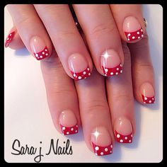 Red and white acrylic design