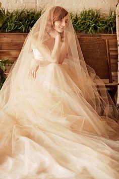 long romantic wedding veil