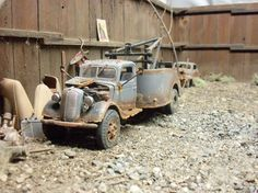 Revell 1937 37 Ford Wrecker Diorama Junk Junkyard Truck Weathered 1 24 1 25 | eBay