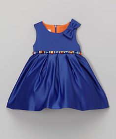 Another great find on #zulily! Royal Bow Babydoll Dress - Infant, Toddler & Girls #zulilyfinds