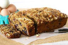 Blueberry Banana Oat Bread is a healthy breakfast or snack! Mmmm, hmmmm... it's SO delicious :)