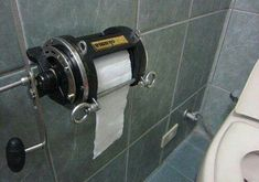 """Reel"" toliet paper holder"