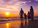 Family walking on the beach Beach Walk, Royalty Free Stock Photos, Sunset, Illustration, Children, Kids, Walking, Photography, Travel