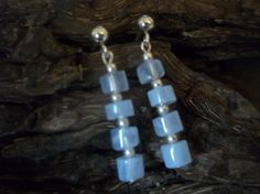 Blue Lace Agate and sterling silver drop earrings by Handmade Jewellery, Unique Jewelry, Handmade Gifts, Blue Lace Agate, Sterling Silver Jewelry, Dawn, Drop Earrings, Etsy, Kid Craft Gifts