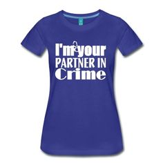"""Partner in Crime - Not only for """"White Collar"""" fans. Great gift for your best friend or for yourself."""
