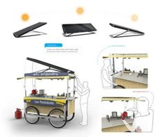 solar powered push cart