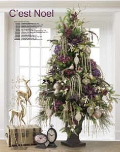 Cute tree with birds and touches of purple!