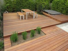 Recently completed deck and custom table w/ benches — Collaborative Construction: General Contractor & Design-build, Los Angeles, CA