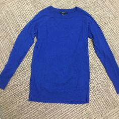 Forever 21 Raglan-Sleeve Sweater Worn only once, great condition. Royal blue, solid color. Lightweight, soft knit, slightly fitted. Forever 21 size small. 60% polyester, 37% rayon, 3% rabbit fur. Forever 21 Tops