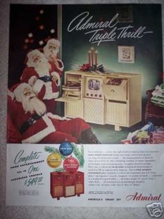 Admiral Combo Tv Radio Phonograph Santa (1948)