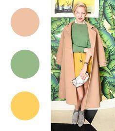 @Alexandra M What Wear - Annabelle Dexter-Jones   Camel + Moss Green + Yellow