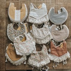 We make baby bibs that are drool worthy for your stylish baby. These bibs are carefully handmade by our local seamstresses in the Pacific Northwest. Baby Clothes Patterns, Cute Baby Clothes, Sewing For Kids, Baby Sewing, Billy Bibs, Linens And Lace, Baby Boutique, Baby Girl Fashion, Handmade Baby
