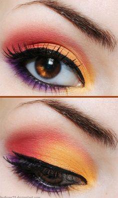 Best Summer Eye Make Up Looks & Ideas For Girls 2013