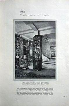 1931 - Chanel's Appartment rue du Faubourg Saint Honoré in Art & Industries