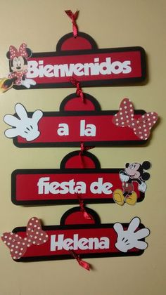 Welcome Minnie Sign Theme Mickey, Fiesta Mickey Mouse, Mickey Party, Mickey Mouse Birthday, Mickey Minnie Mouse, Minie Mouse Party, Mickey Mouse Clubhouse, Mouse Parties, Birthday Decorations
