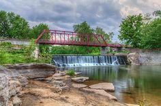 A view of the Old Appleton Bridge in Cape Girardeau County Missouri.  #bridge, #visitCape, #VisitMO, #waterfalls